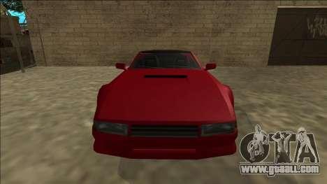 Cheetah Cabrio for GTA San Andreas back view