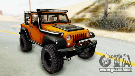 Jeep Wrangler Off Road for GTA San Andreas back view