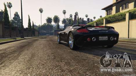 GTA 5 Porsche Carrera GT 2.0 back view