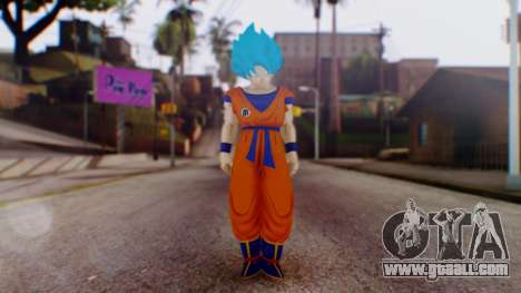 Goku SSJ God Blue (SSGSS) for GTA San Andreas second screenshot