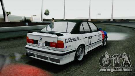 BMW M5 E34 US-spec 1994 (Full Tunable) for GTA San Andreas inner view