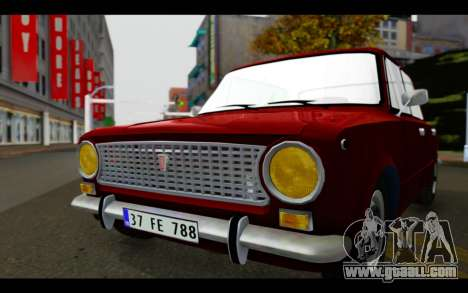 Fiat 124 for GTA San Andreas back view