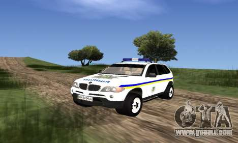 BMW X5 Ukranian Police for GTA San Andreas