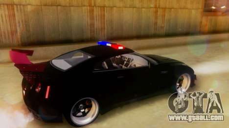 Nissan GT-R Police Rocket Bunny for GTA San Andreas back left view