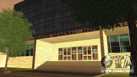 LSPD, All Saints Hospital & Skyscrapers 2016 for GTA San Andreas forth screenshot