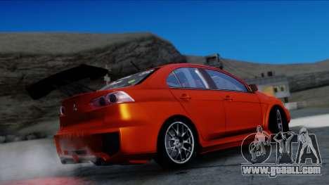 Mitsubishi Lancer Evolution X Tunable New PJ for GTA San Andreas back view