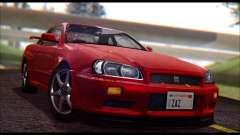 Nissan Skyline R-34 GT-R V-spec 1999 No Dirt for GTA San Andreas