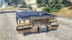 Cadillac Fleetwood Brougham 1985 [rusty] for GTA 5