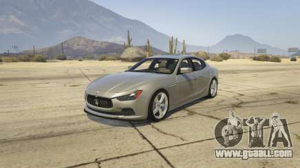 Maserati Ghibli S for GTA 5