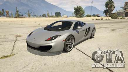 2011 McLaren MP4 12C for GTA 5