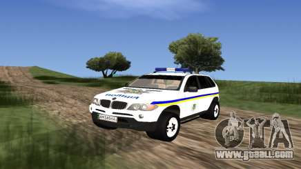 BMW X5 Ukranian Police for GTA San Andreas