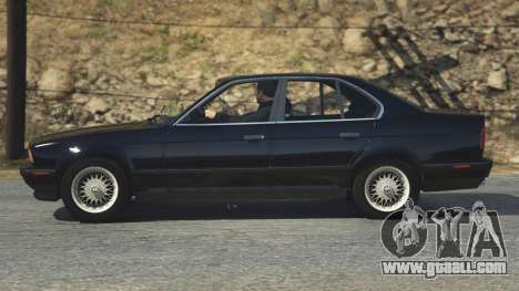 GTA 5 BMW 535i E34 back view