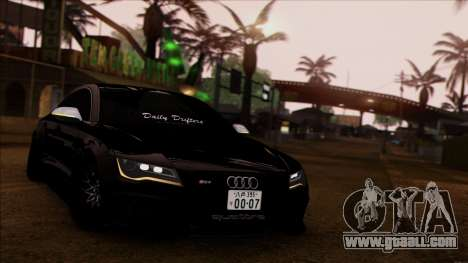 Audi RS7 Daily Drifters for GTA San Andreas back left view