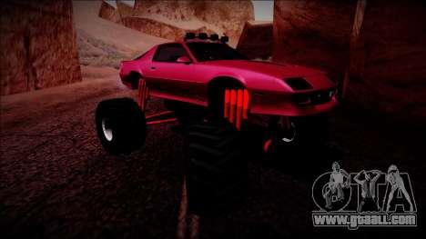 1990 Chevrolet Camaro IROC-Z Monster Truck for GTA San Andreas left view