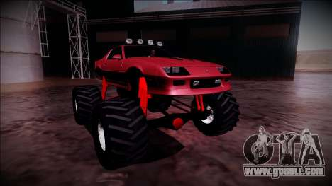 1990 Chevrolet Camaro IROC-Z Monster Truck for GTA San Andreas right view
