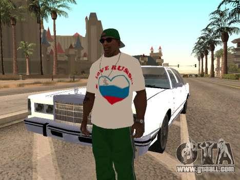 T-shirt I love Russia for GTA San Andreas