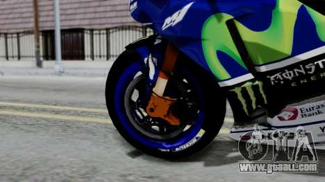 Yamaha YZR-M1 VR46 for GTA San Andreas back left view