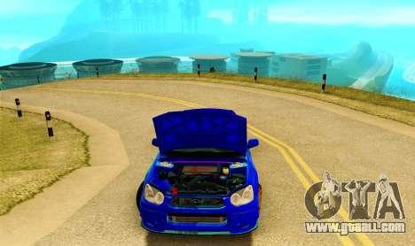 Subaru Impreza WRX STI Spec-C for GTA San Andreas inner view