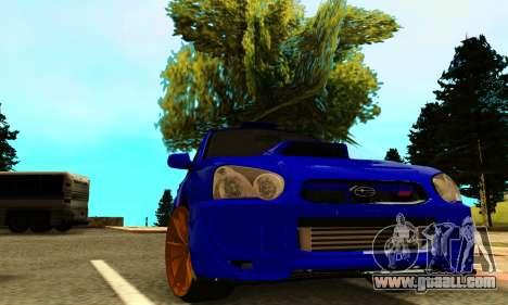 Subaru Impreza WRX STI Spec-C for GTA San Andreas back view