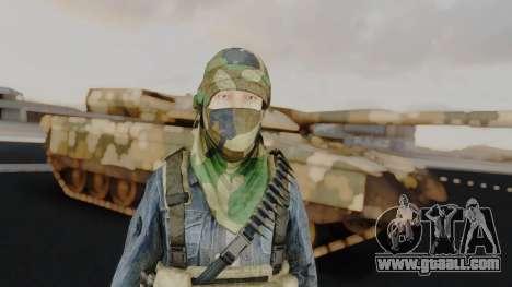 Somalia Militia Woodland Camo for GTA San Andreas