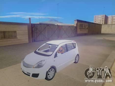 Nissan Note v1.0 Final for GTA San Andreas