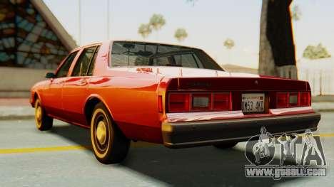 Chevrolet Impala 1984 for GTA San Andreas back left view
