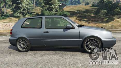 GTA 5 Volkswagen Golf Mk3 VR6 1998 Highline DTD v1.0a left side view