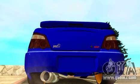 Subaru Impreza WRX STI Spec-C for GTA San Andreas right view