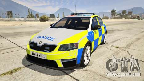 2014 Police Skoda Octavia VRS Hatchback for GTA 5