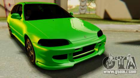 Honda Civic Vti 1994 V1.0 for GTA San Andreas back view