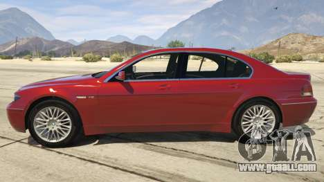 GTA 5 BMW 760i E65 left side view