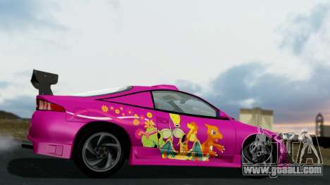 Mitsubishi Eclipse GST 1995 for GTA San Andreas side view