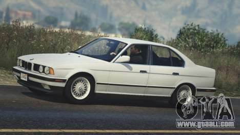 GTA 5 BMW 535i E34 left side view