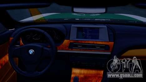 BMW M6 F13 Gran Coupe 2014 Dubai Police for GTA San Andreas right view