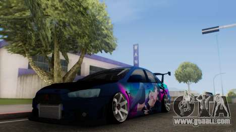 Mitsubishi Lancer X by Venceslav Sexy for GTA San Andreas