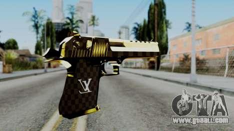 Deagle Louis Vuitton Version for GTA San Andreas second screenshot