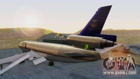 McDonnell-Douglas DC-10-30 Saudia for GTA San Andreas left view