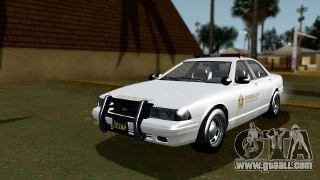 GTA 5 Vapid Stanier II Sheriff Cruiser IVF for GTA San Andreas