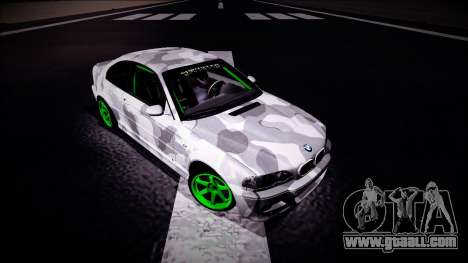 BMW M3 E46 Drift Monster Energy for GTA San Andreas right view