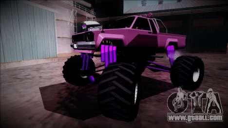 GTA 5 Karin Rebel Monster Truck for GTA San Andreas bottom view
