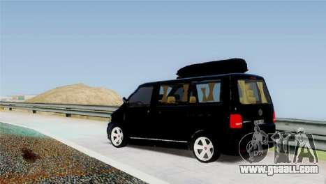 Volkswagen bus By.Snebes for GTA San Andreas back left view