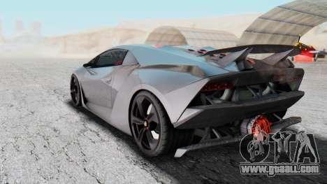 Lamborghini Sesto Elemento 2010 for GTA San Andreas back left view