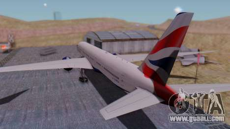 Boeing 777-9x British Airways for GTA San Andreas left view