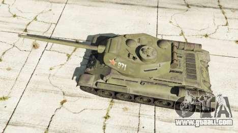 GTA 5 T-34-85 back view