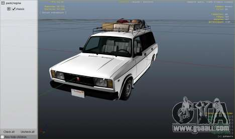 GTA 5 VAZ 2104 right side view