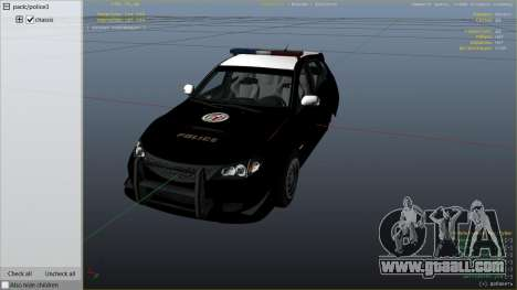 GTA 5 LAPD Subaru Impreza WRX STI right side view