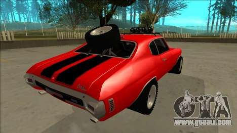 Chevrolet Chevelle Rusty Rebel for GTA San Andreas engine