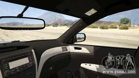 GTA 5 LAPD Subaru Impreza WRX STI rear right side view