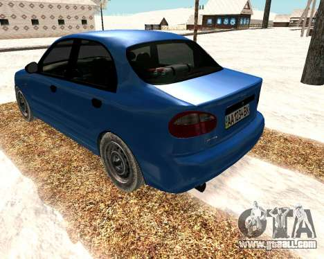 Daewoo Lanos 2001 Winter for GTA San Andreas back left view