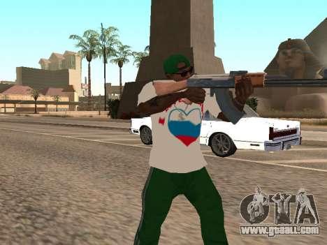 T-shirt I love Russia for GTA San Andreas third screenshot